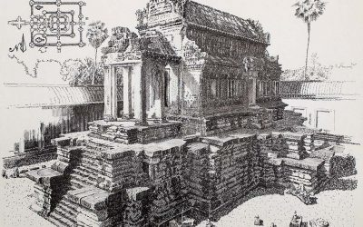 South Thousand God Library. Angkor Wat. Cambodia.