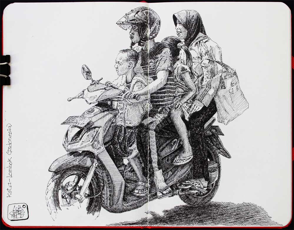Yamaha. Cuatro en la carretera