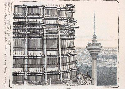 Vista de la Menara Kuala Lumpur desde las Torres Petronas