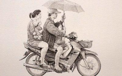 Moto Suzuki. Indonesia