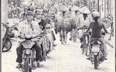 Tráfico en Hoi An.